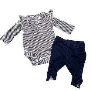 🌸3/$16🌸 carters newborn stripe outfit